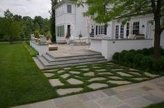bluestone patio, backyard landscape ideas