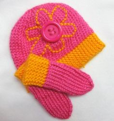 Free Knitting Pattern - Preemie Clothes: Cute as a Button Preemie Hat