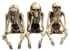 Skelett Kantenhocker - 3er Set - Figur Fantasy Deko