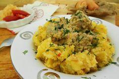 Retete Culinare - Ficăței de pui în sos de lapte Gadgets, Chicken Livers, How To Cook Chicken, Risotto, Potato Salad, Mashed Potatoes, Cauliflower, Vegetables, Cooking