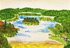 Irina  Afonskaya - Lake, painting