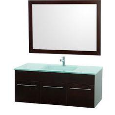 "Genoa 48"" Wall Mount Single Bathroom Vanity Set - Espresso Ads sale : image"
