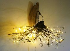 tree branch chandelier | Hanging crystals, Tree branches and Trees