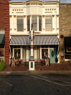 This awning is located in downtown Goldsboro NC.  We did this masterpiece last week at Greenville Awning & Neon in Greenville NC and I thought it was definetly Pinterest worthy!!