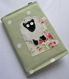 Textile Sheep Diary 2013 in Sage Green Polka Dot