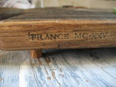 French Oak Cutting, Serving Or Chopping Board On Hand Cut Feet Xxv