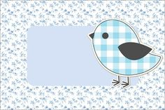 Free Printable Invitations, Free Printables, Oh My Fiesta, Bird Free, Baby Wallpaper, Frame Clipart, Gift Bags, Blue Bird, Sunglasses Case