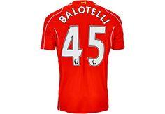 Warrior Balotelli Liverpool Home Jersey 2014-15