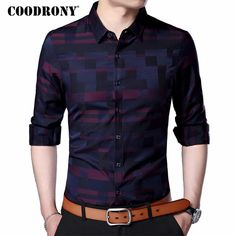 COODRONY Men Shirt Mens Business Casual Shirts 2018 New Arrival Men Famous Brand Clothing Plaid Long Sleeve Camisa Masculina 712 - Men's style, accessories, mens fashion trends 2020 Mens Business Casual Shirts, Casual Shirts For Men, Men Casual, Casual Clothes, Casual Hair, Clothes 2019, Men Clothes, Stylish Clothes, Smart Casual