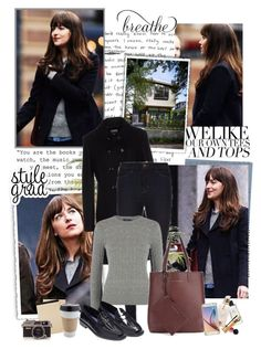 """""""Anastasia Steele - Fifty Shades Darker"""" by iced ❤ liked on Polyvore featuring Gipsy, Magdalena, Moschino Cheap & Chic, Want Les Essentiels de la Vie, Samsung and Aspinal of London"""