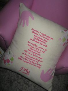 Amazing handmade gifts, written pillows could be a good gift, for more Go to https://www.profiletree.com/vicki-shone #pillows, #cushions, #crafts, #handmade, #gifts,