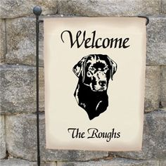 Personalized Dog Garden Flag | Welcome Dog Breed Yard Flag