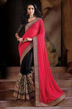 Buy Pink Net Designer Saree Online in low price at Variation. Huge collection of Designer Sarees for Wedding. #designer #designersarees #sarees #onlineshopping #latest #lowprice #variation. To see more - https://www.variationfashion.com/collections/designer-sarees