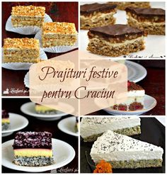 Good Food, Yummy Food, Romanian Food, Christmas Cookies, Cheesecakes, Delicious Desserts, Biscuits, Sweet Tooth, Favors