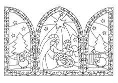 Ser Mais!: Trípticos de Natal Crochet Christmas Ornaments, Christmas Nativity, Christmas Wood, Christmas Pictures, Christmas Colors, Christmas Crafts, Fall Crafts, Christmas Decorations, Christmas Coloring Pages