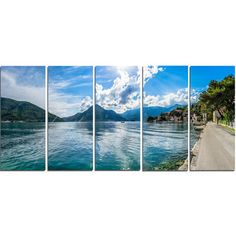 DesignArt Kotor Bay on Summer Day Panorama 5 Piece Photographic Print on Wrapped Canvas Set