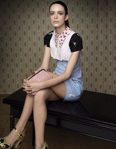 Stacy Martin for the first Miu Miu fragrance.