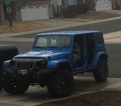 David took all the doors off my Jeep!! It better not rain.
