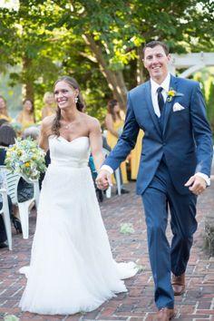 Karen & Todd's {Yellow & Slate Blue} Rustic Nautical Summer Wedding|Photographer:  LeAnna Theresa Photography