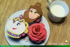 Beauty and the Beast  cupcakes from The Sweet Treat Leap.