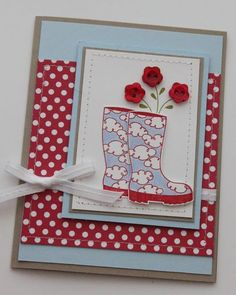 sherrill Graff: I get my inspiration from friends like Heather - fellow stampin up demonstrator