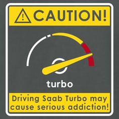 Saab addiction caution - Men's T-Shirt by American Apparel