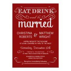 U003eu003eu003eHello Rustic Typography Crimson Red Wedding Invitations Rustic  Typography Crimson Red Wedding Invitations