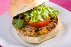 Sunny Bean Burgers (raw sunflower seeds, red or pink beans, ketchup, wheat germ or old-fashioned rolled oats) (vegetarian)