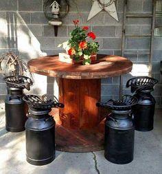 Le bobine di legno per arredare casa e giardino
