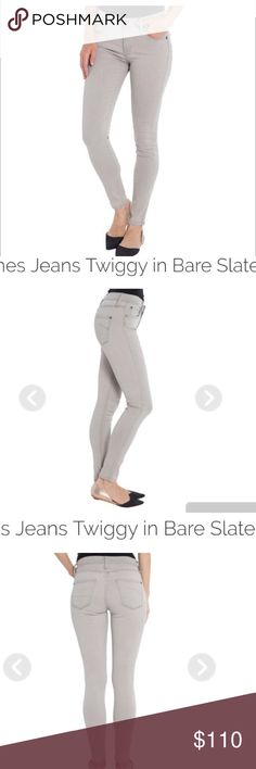 James jeans the legging twiggy in bare slate Nwt. This lighter neutral wash will open up so many new styling options in your wardrobe. Pair it with black heels and a black top for a chic anytime, anywhere look, or try it with a dark blue chambray top for an unexpected look.  The twiggy is a classic stretch skinny jean that can be styled for any body type or personal style. The tapered ankle makes it easy to show off a statement shoe, and the streamlined silhouette will hold everything in…