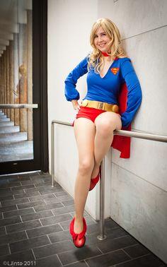 Supergirl hot pants cosplay