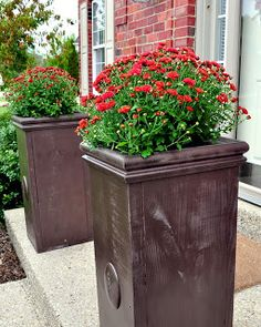 DIY Large Planters - Cleverly Inspired