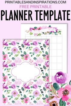 Printable Planner Pages, Floral Printables, Free Planner, Planner Template, Templates Printable Free, Happy Planner, Planner Stickers, Free Printables, Printable Calendars