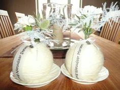 Een bloemstuk per gast voor tafelversiering bij oudjaar!