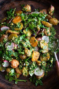 Veggie Recipes, Vegetarian Recipes, Dinner Recipes, Cooking Recipes, Healthy Recipes, Vegetarian Dish, Cooking Ideas, Roasted Potato Salads, Roasted Potatoes