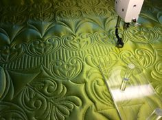Matching quilting by Carla Barrett