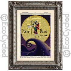 Nightmare Before Christmas 9 with Names & Date Jack by EcoCycled