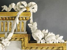 c1790 A GUSTAV III SWEDISH NEOCLASSICAL CARVED, PARCEL-GILT AND GRAY-PAINTED MIRROR IN THE MANNER OF JOHAN ÅKERBLAD CIRCA 1790 Estimate 10,000 — 15,000 USD LOT SOLD. 47,500 USD (Hammer Price with Buyer's Premium) Swedish Decor, Swedish Design, French Decor, Scandinavian Style, Louis Seize, Patina Paint, Swedish Interiors, Grey And Gold, Gray