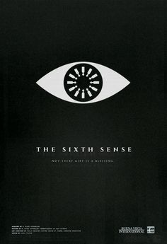 Minimalist poster of the horror movie The Sixth Sense