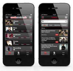 musikmachen.de #iPhone #App by SQUIECH Design, via #Behance #Mobile