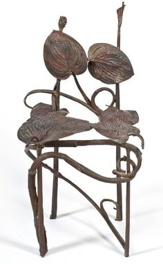 Hosta Chair. Chaise Hosta, Claude Lalanne, 1972. Beaautiful design, but I'm guessing not a comfy chair.