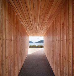 BTE architecture's raised pyramid deck offers unique views of the scottish landscape