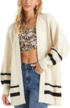 Spring Summer Hand Knit Kimono Sleeve Cardigan Sweater Crop Sweater Casual Women\u2019s Clothing Gift For Her Chunky