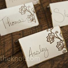 You did what with a paperclip weddings do it yourself wedding diy escort cards perfect hand written with a stamp solutioingenieria Image collections