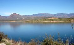 Roosevelt Lake is a man made lake east of Mesa, Arizona