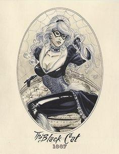 Steampunk Black Cat