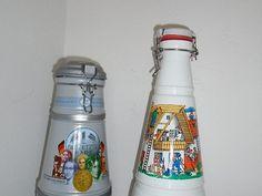 Prodám dvě velké lahve s uzávěrem, cena vlevo