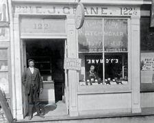 Vintage Photograph The E.J. Crane, watchmaker & jewelry store Richmond, VA 1899