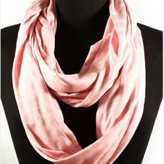 Pink on Pink Stripe Infinity Scarf Color as shown  (price is lowest) Accessories Scarves & Wraps