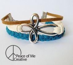 Layered Infinity Cross Bracelet